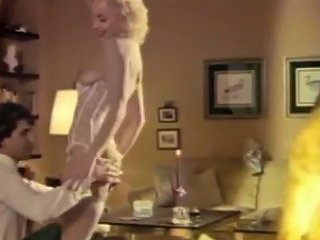 Delicious Classic Swedish Blondie In White Lingerie