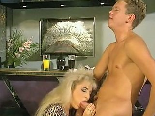 Majestic And Slutty Blondie Greedily Sucks Dick And Fucks On The Table