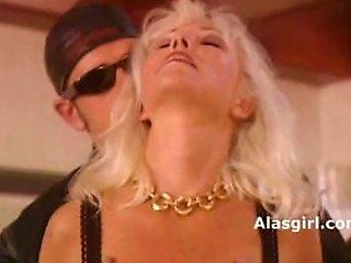Blonde Woman Jumo On His Chopper 1